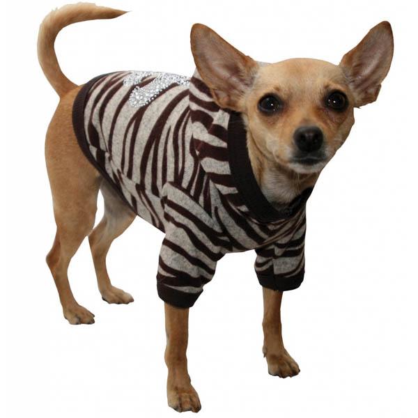 Zebra Dog Hoodie